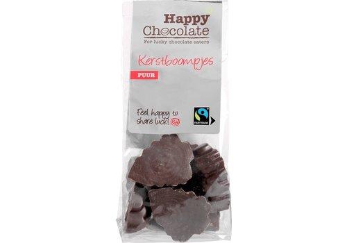Happy Chocolate Kerstboompjes Puur Biologisch