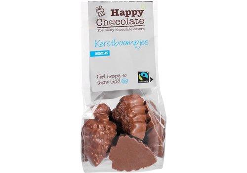 Happy Chocolate Kerstboompjes Melk Biologisch
