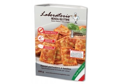Laboratorio Senza Glutine Diepvries Ravioli met Tomaat en Basilicum