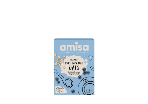 Amisa Instant Havermout 8 Porties Biologisch