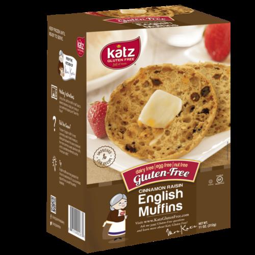 Katz Gluten Free English Muffins Cinnamon Raisin