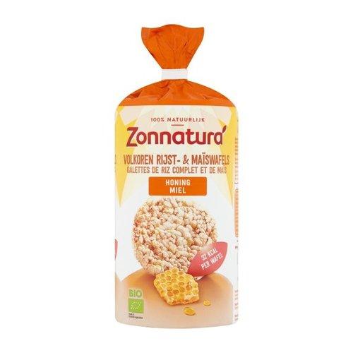 Zonnatura Rijst- en Maïswafels Honing Biologisch
