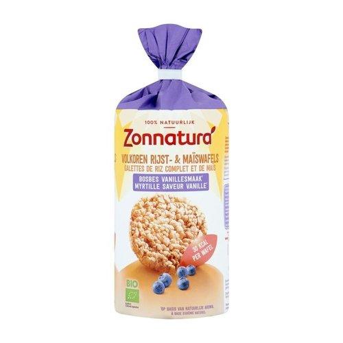 Zonnatura Rijst- en Maïswafels Bosbes Vanille Biologisch