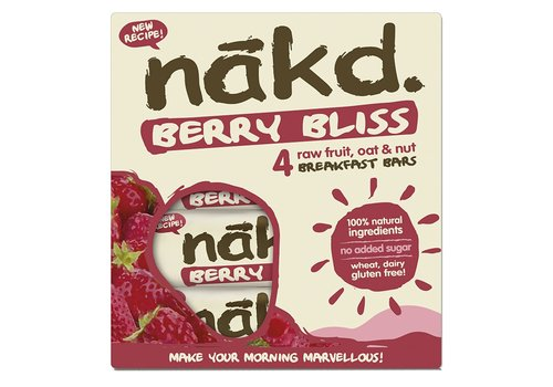 Nakd Berry Bliss Bar 4-pack (THT 12-11-2020)