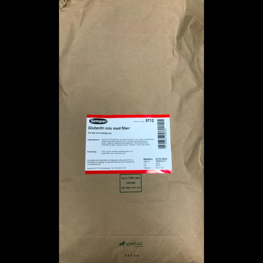 Glutenvrije Mix met Vezels 25 kilo