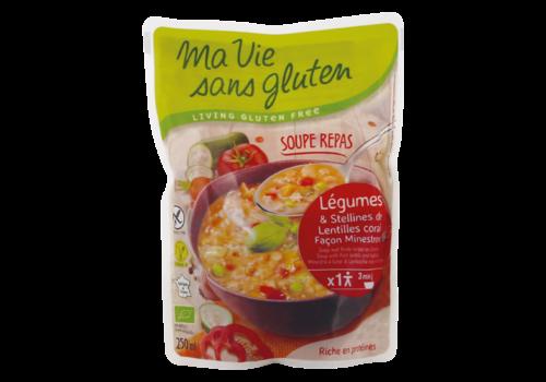 Ma Vie Sans Gluten Soep Rode Linzen en Groenten Biologisch