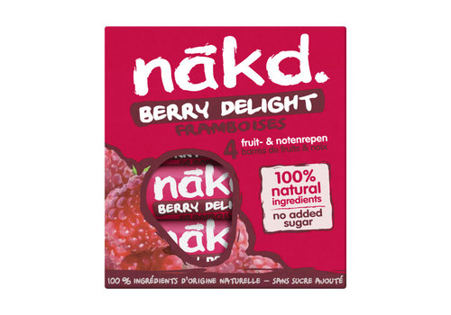 Nakd Berry Delight Framboos  Bar 4-pack (THT 12-4-2021)