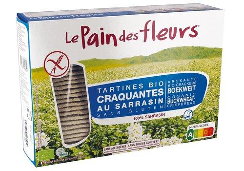 Le Pain des Fleurs Crackers Boekweit Zonder Zout/Suiker Grootverpakking Biologisch