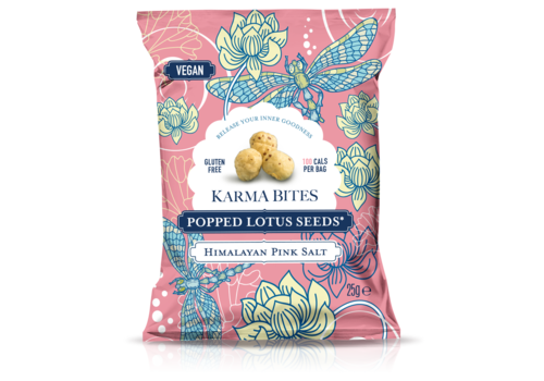 Karma Bites Popped Lotus Seeds Pink Salt
