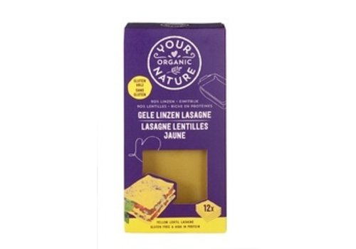 Your Organic Nature Gele Linzen Lasagne Biologisch