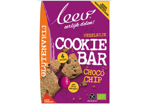 Leev Chocolate Chip Cookie Bar Biologisch
