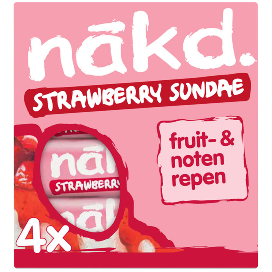 Strawberry Sundae Bar 4-pack