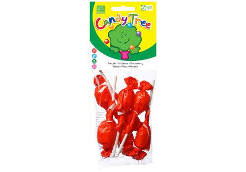 Candy Tree Aardbeien Lollies Biologisch (7 stuks)