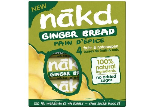 Nakd Ginger Bread Bar 4-pack