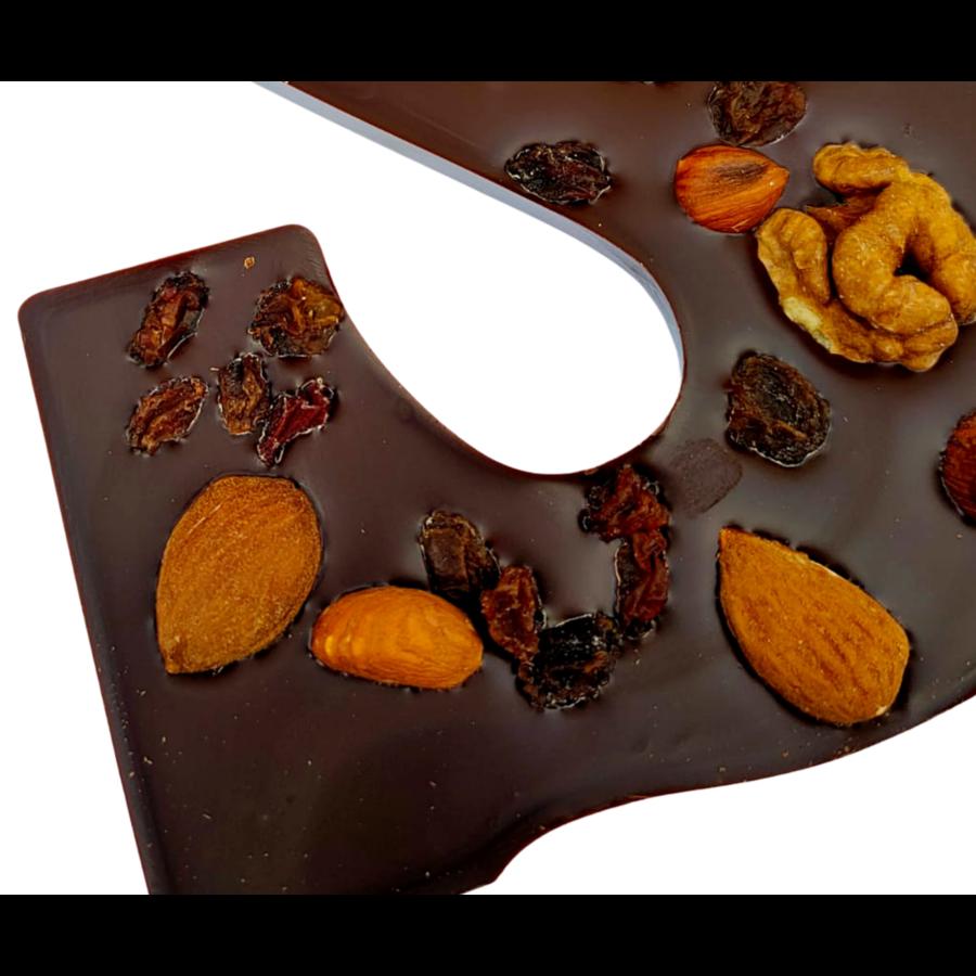 Luxe Chocoletter Puur met Noten Biologisch