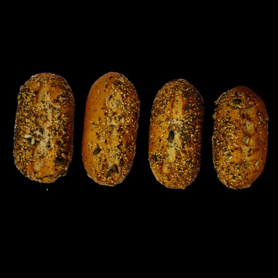 Bruine Meerzaden Puntjes 4 Stuks