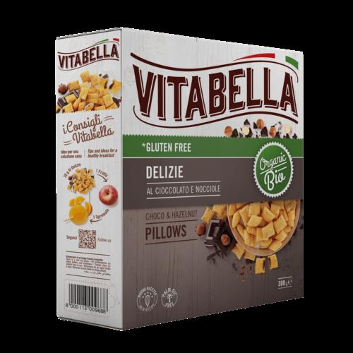 Vitabella Chocolade Hazelnoot Kussentjes Biologisch