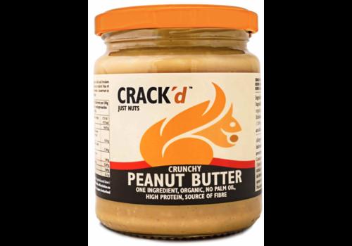 Crack'd Crunchy Pindakaas Biologisch