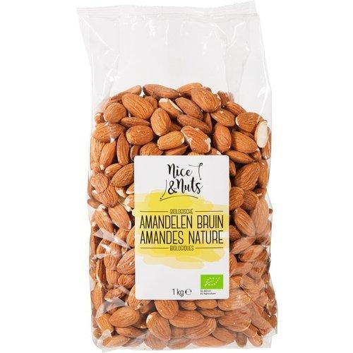 Nice&Nuts Bruine Amandelen Biologisch 1kg