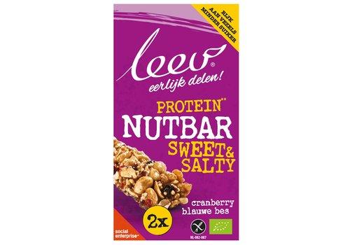 Leev Protein Nut Bar Cranberry Blauwe Bes Biologisch
