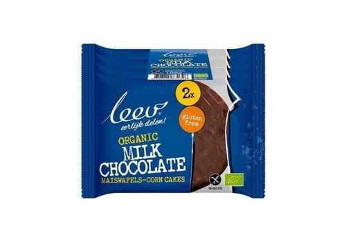 Leev Maiswafels Melkchocolade Biologisch