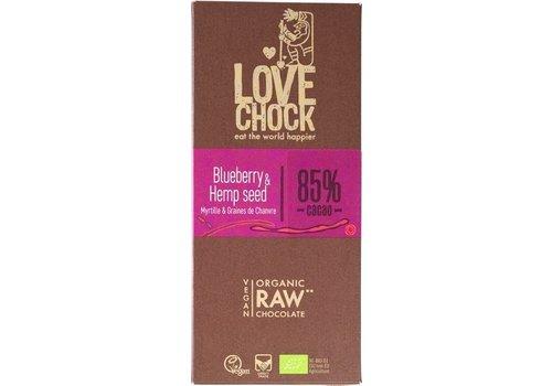 RAW Chocolade Blauwe Bes Hennep Biologisch