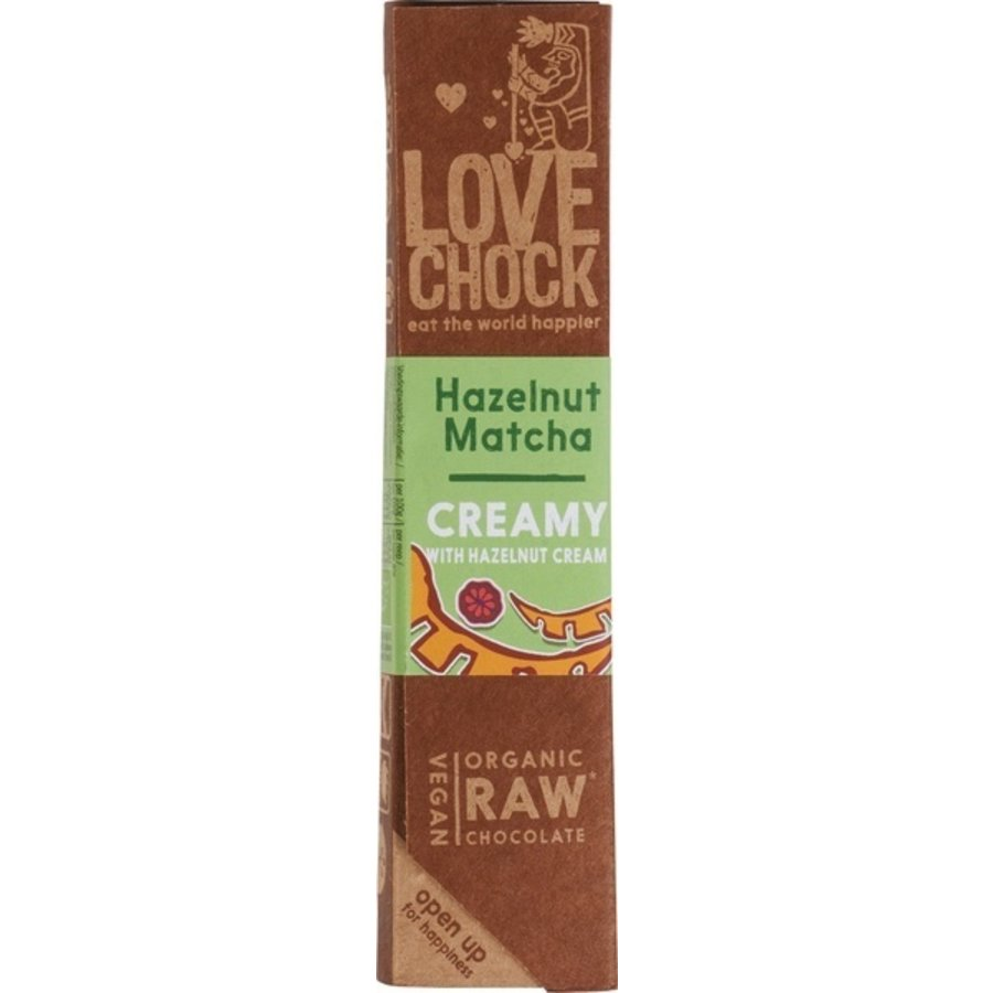 RAW Chocolade Hazelnoot Matcha Biologisch