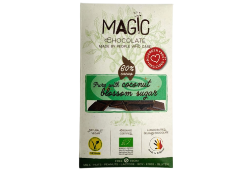 Magic Chocolate 60% Puur met Kokosbloesemsuiker Biologisch