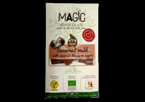 Magic Chocolate Kokosmelkchocolade met Kokosbloesemsuiker Biologisch