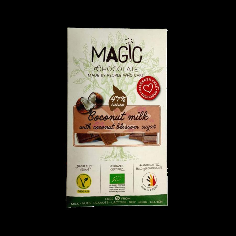 Kokosmelkchocolade met Kokosbloesemsuiker Biologisch