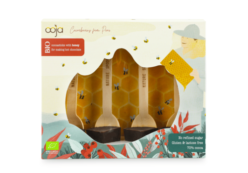 Ooja Cadeaubox Chocosticks Honey Biologisch