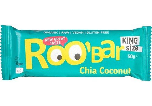 Roobar Chia Coconut Bar Doos 16 Stuks Biologisch