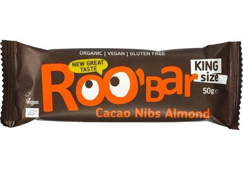 Roobar Cacao Nibs Almond Bar Doos 16 Stuks Biologisch