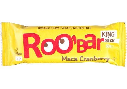 Roobar Maca Cranberry Bar Doos 16 Stuks Biologisch