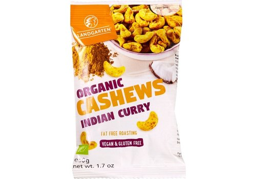 Landgarten Cashewnoten Indian Curry Biologisch