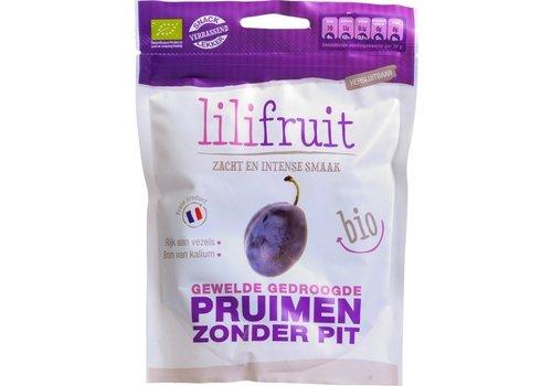 Lilifruit Gewelde Gedroogde Pruimen Biologisch