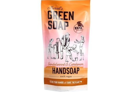 Marcel's Green Soap Navul handzeep Sandelhout & Kardemom