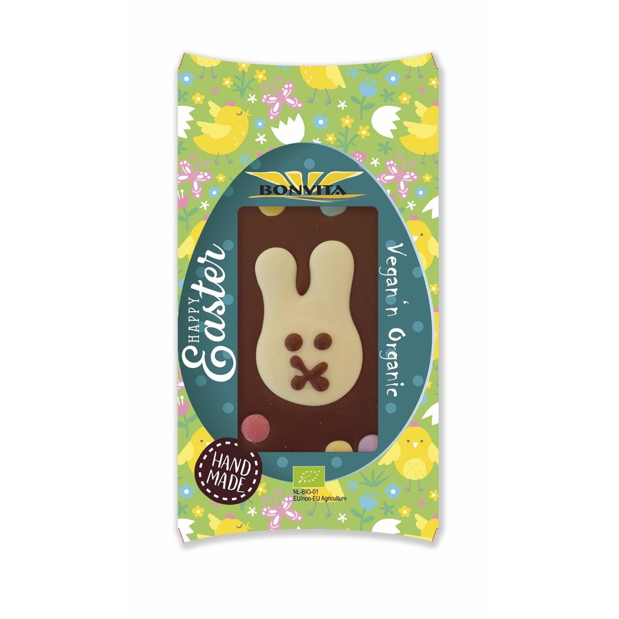 Chocoladereep met Paashaas en Confetti Biologisch
