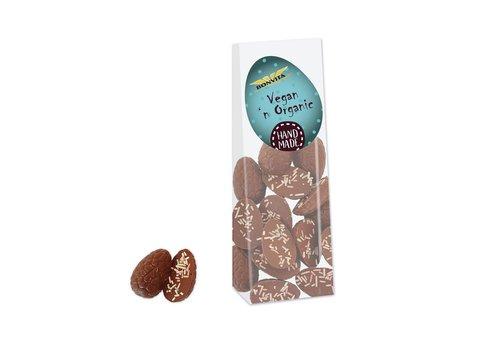 Bonvita Chocolade Paaseitjes Met Gekleurde Decoratie Biologisch