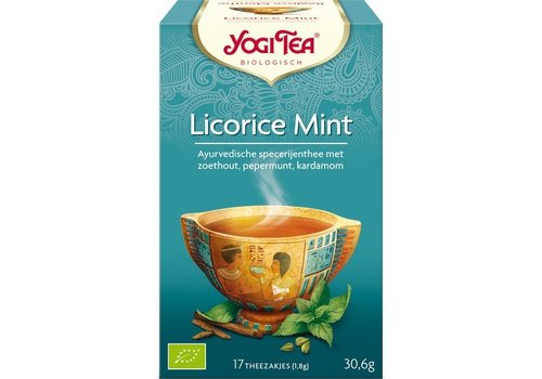 Yogi Tea Zoethout Mint Thee Biologisch