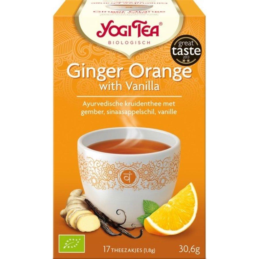 Gember-Sinaasappel-Vanille Kruidenthee Biologisch