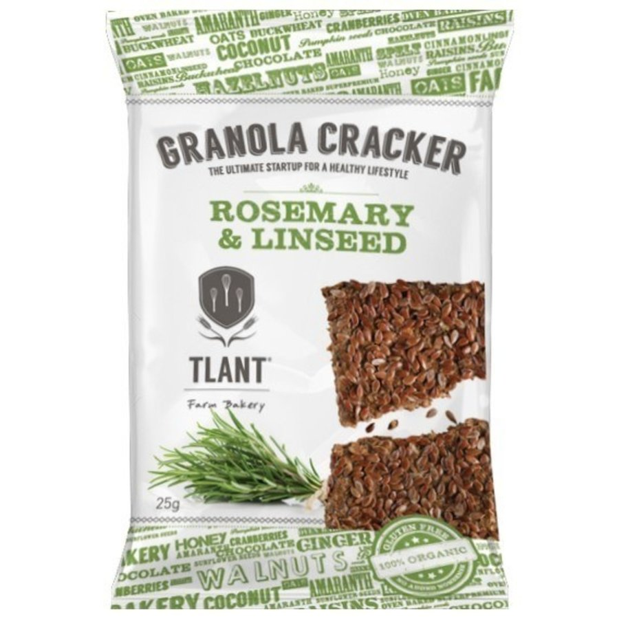 Granola Crackers Rozemarijn&Lijnzaad Biologisch