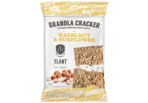 TLANT Granola Crackers Hazelnoot&Zonnebloem Biologisch
