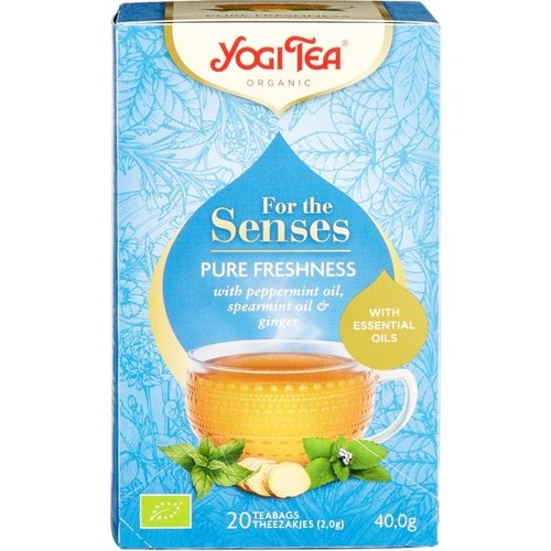 Yogi Tea For The Senses Pure Freshness Kruidenthee Biologisch