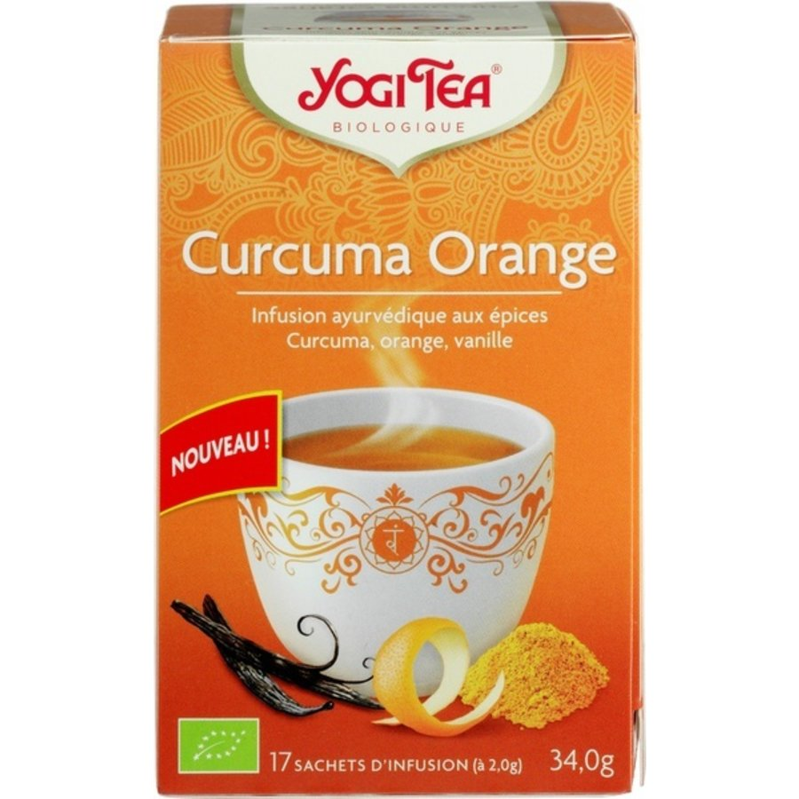 Kurkuma-Sinaasappel Kruidenthee Biologisch