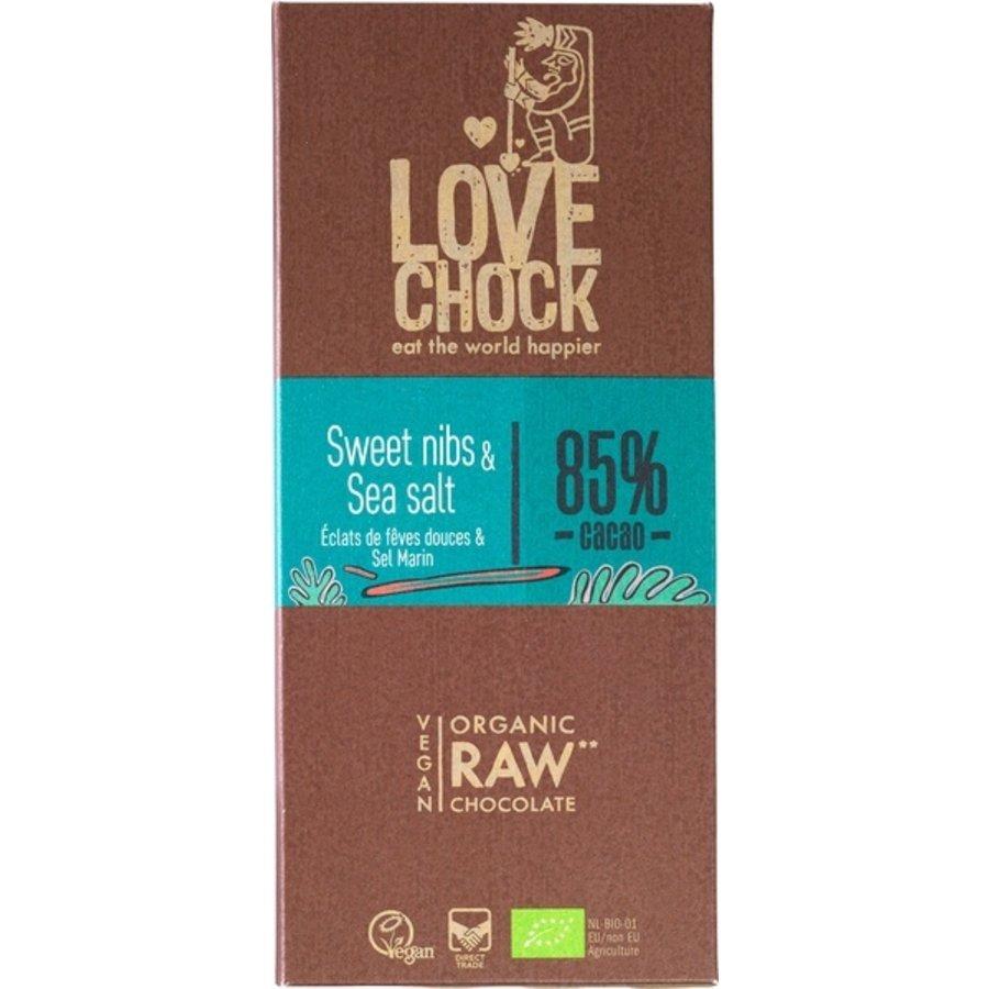 RAW chocolade zoete nibs & zeezout Biologisch