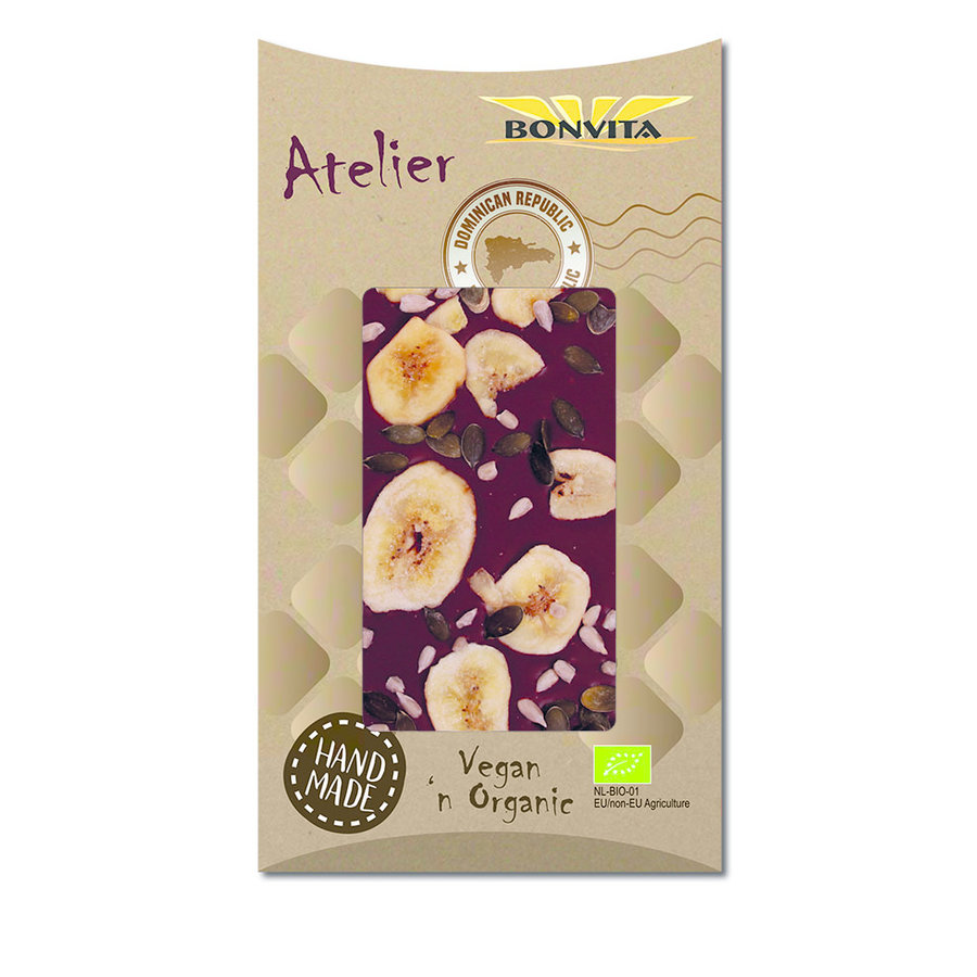Banana Crunch Rice Chocolate Biologisch