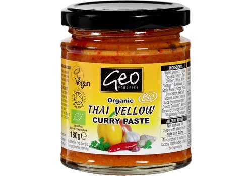 Geo Organics Curry Paste Thai Yellow Biologisch