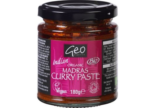 Geo Organics Indian Madras Curry Paste Biologisch