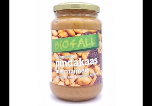 Bio4All Pindakaas met Rozijnen Biologisch